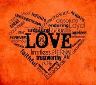 Picture of words forming a heart by Josiah Kopp via Creationswap.com